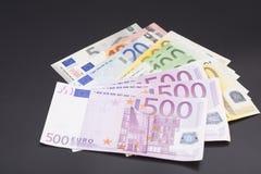 Валюта европейца денег банкнот евро Стоковое фото RF