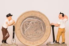 Валюта евро Greec сбережений Стоковое Изображение RF