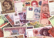 валюта коллажа Стоковые Фотографии RF