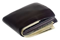 валюта мы бумажник Стоковое Изображение RF
