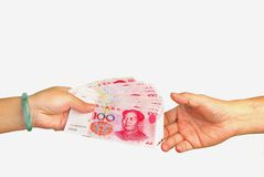 валюта фарфора Стоковая Фотография
