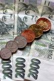 валюта чех стоковые фото