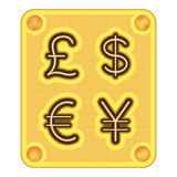 валюта шоколада Стоковые Изображения RF