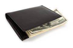 валюта штабелирует нас бумажник Стоковое фото RF