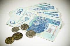 Валюта 50 Польша PLN Стоковое Изображение RF
