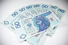 Валюта 50 Польша PLN Стоковые Изображения RF