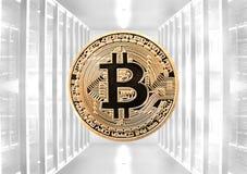 Валюта Bitcoin виртуальная стоковое изображение rf