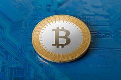 Валюта Bitcoin секретная Стоковое Фото