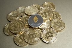 Валюта Ethereum цифровая, финансовый сектор Стоковое Изображение RF