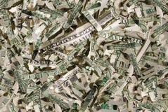 валюта shreds мы Стоковое Изображение