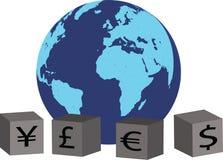 валюты гловальные иллюстрация штока