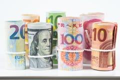 Валюты и концепции обменом денег торгуя Крены var Стоковое Изображение