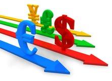 валюты принципиальной схемы иллюстрация вектора