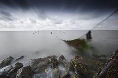 Валюшка het Fuik op, ловушка рыб на квартирах стоковое фото rf