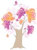 вал бабочки цветя Иллюстрация штока