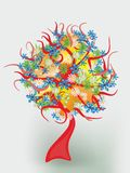 вал весны предпосылки сказовый флористический Стоковая Фотография