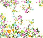 вал вишни цветения Стоковое Изображение