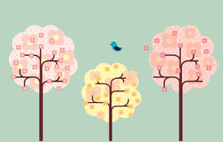 вал вишни цветения Стоковые Изображения RF