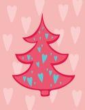 вал влюбленности рождества Иллюстрация штока