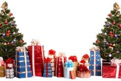 вал группы подарка рождества коробки стоковые фото