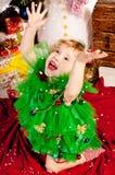 вал девушки подарков рождества вниз Стоковое Фото
