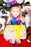 вал девушки подарков рождества вниз Стоковые Фото