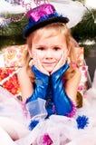вал девушки подарков рождества вниз Стоковая Фотография RF