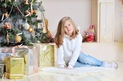 вал девушки рождества счастливый маленький вниз Стоковое фото RF