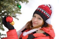 вал девушки рождества Стоковое Изображение RF