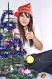 вал девушки украшений рождества Стоковые Изображения RF