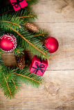 Вал ели рождества с украшением Стоковые Изображения RF