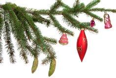 Вал ели рождества с цветастыми светами Стоковое Изображение RF