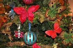 вал ели украшения рождества Стоковые Фото