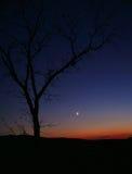 вал захода солнца силуэта Стоковое Фото