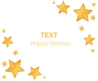 вал звезд орнаментов рождества золотистый Стоковая Фотография RF