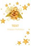 вал звезд орнаментов рождества золотистый Стоковые Фотографии RF