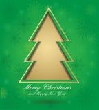 вал зеленого цвета рождества карточки бесплатная иллюстрация
