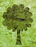 вал зеленой бумаги Стоковое Фото