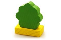 вал игрушки кирпича деревянный Стоковое фото RF