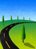 вал кипариса текстурированный холмом Стоковая Фотография RF