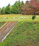 вал кладбища осени старый Стоковые Изображения
