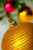 вал конца рождества шарика декоративный вверх Стоковые Фото