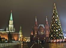 вал красного квадрата moscow рождества Стоковое Фото