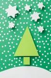 вал красного цвета бумаги иллюстрации рождества предпосылки Стоковое Изображение RF