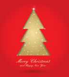 вал красного цвета золота рождества Стоковая Фотография