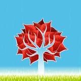вал красного цвета листьев Стоковое фото RF