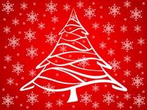 вал красного цвета рождества предпосылки иллюстрация штока
