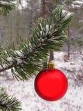 вал красного цвета рождества шарика Стоковая Фотография RF