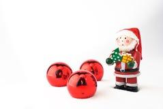 вал красного цвета рождества шариков Стоковое Изображение RF