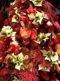 вал красного цвета украшений рождества Стоковое Фото